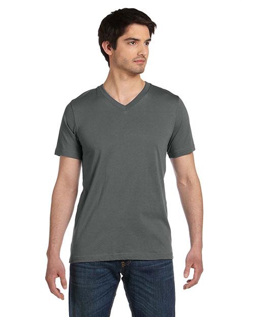 Bella 3005U Men  Made In The Usa Jersey Short-Sleeve V-Neck T-Shirt Asphalt at bigntallapparel
