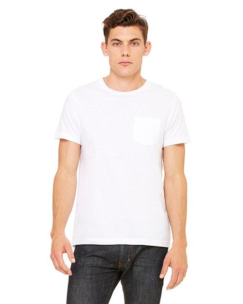 Canvas 3021 Men 4.2 Oz. Jersey Pocket T-Shirt White at bigntallapparel