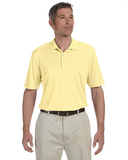 Ashworth 3046 Men Performance Interlock Stripe Polo Light Yellow at bigntallapparel
