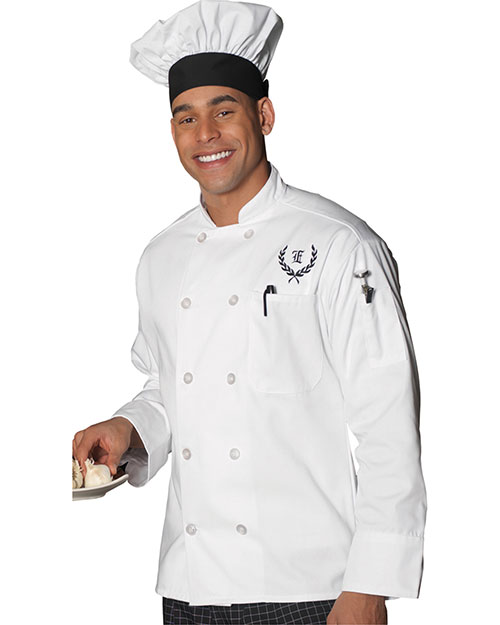 Edwards 3301 Men 10-Button Chef Coat White at bigntallapparel