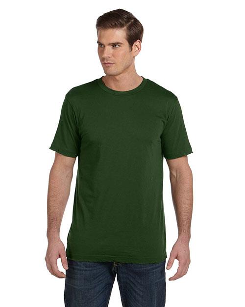 Canvas 3402 Men 3.8 Oz. Sunset Vintage T-Shirt Olive at bigntallapparel