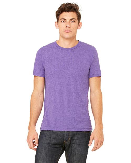 Canvas 3413C Men 4 Oz. Howard Tri-Blend T-Shirt Purple Triblend at bigntallapparel