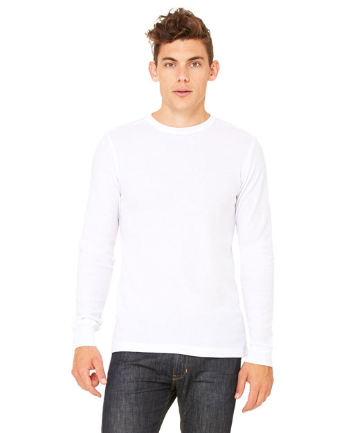 Canvas 3500 Men 4.5 Oz. Lombard Thermal White/White at bigntallapparel