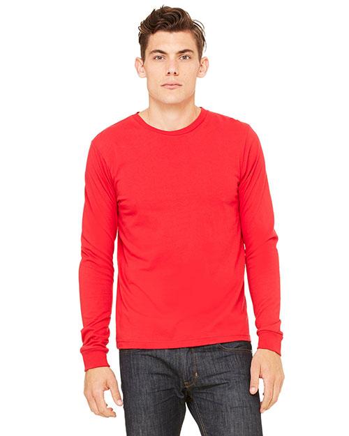 Canvas 3501 Men 4.2 Oz. Filmore Long-Sleeve T-Shirt Red at bigntallapparel