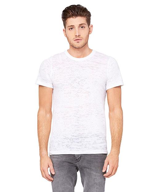 Canvas 3601 Men 3.6 Oz. Burnwood Burnout Short-Sleeve T-Shirt White at bigntallapparel