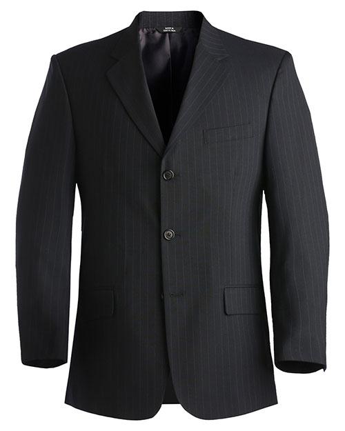 Edwards 3660 Men Pinstripe Wool Blend Suit Coat Navy at bigntallapparel