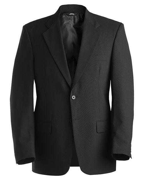 Edwards 3680 Men Single Breasted Wool Blend Suit Coat Black at bigntallapparel
