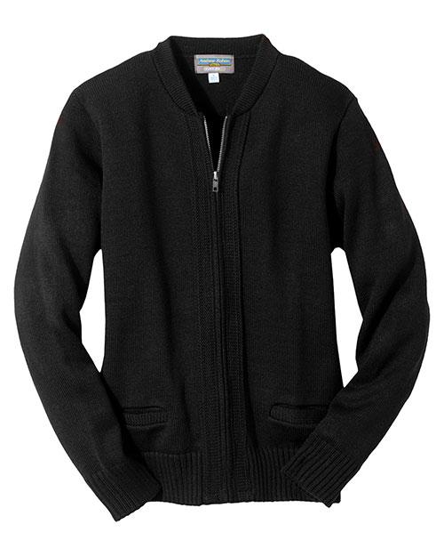 Edwards 372 Men  Heavy Weight Zipper Cardigan W/Tuff-Pil? Plus Black at bigntallapparel