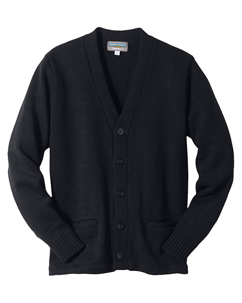 Edwards 383 Women  Heavy Weight V-Neck Cardigan Sweater With Two Pocket Navy at bigntallapparel