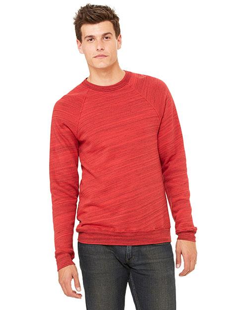 Canvas 3901 Men  8.2 Oz. Triblend Sponge Fleece Pullover Red Marble Flc at bigntallapparel