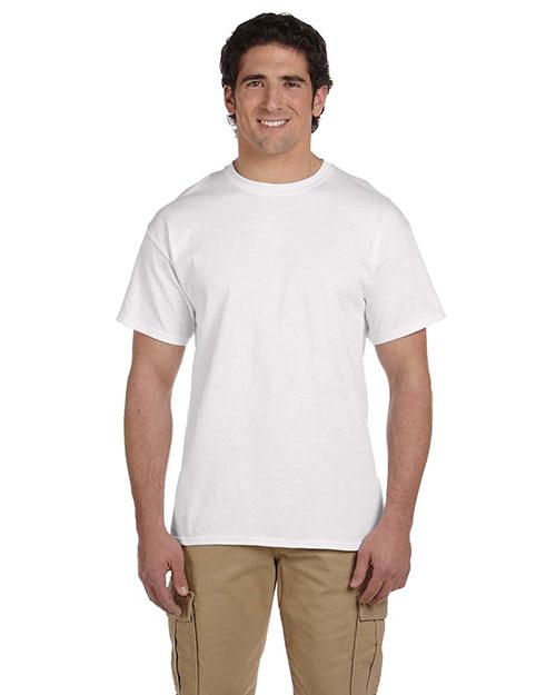 Fruit Of The Loom 3931 Men   5.4 Oz. Heavy Cotton T-Shirt White at bigntallapparel