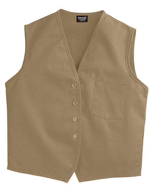 Edwards 4006 Men Apron Vest With Breast Pocket Khaki at bigntallapparel