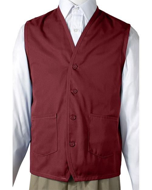 Edwards 4106 Women  Apron Vest With Waist Pockets Wine at bigntallapparel