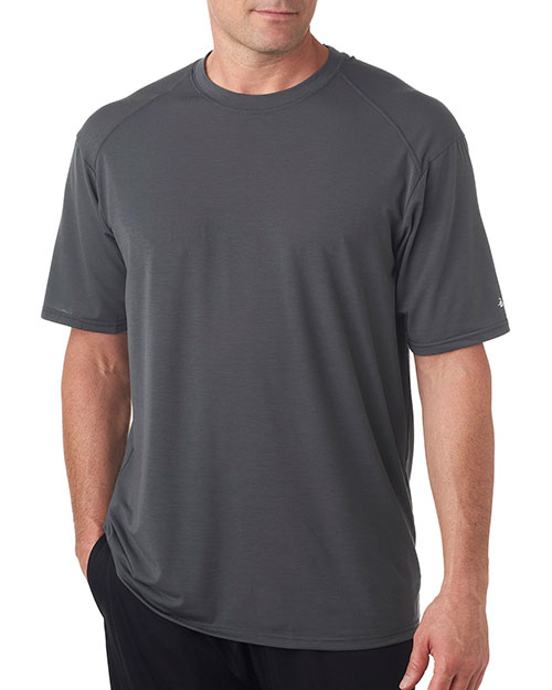 Badger 4320 Men Pro Heathered Performance Tee Carbon at bigntallapparel