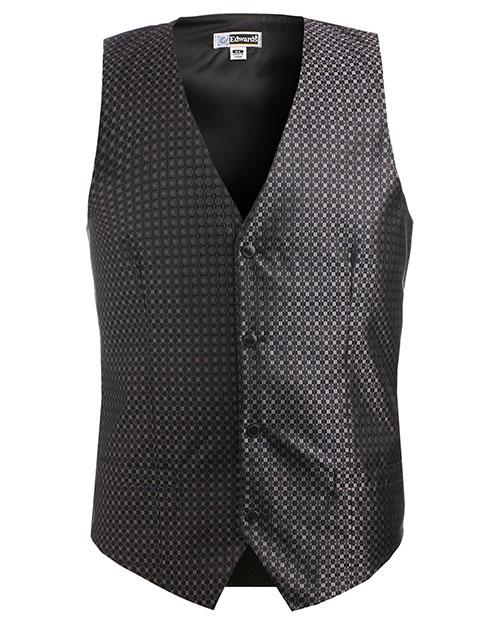 Edwards 4396 Men Grid Vest Black at bigntallapparel