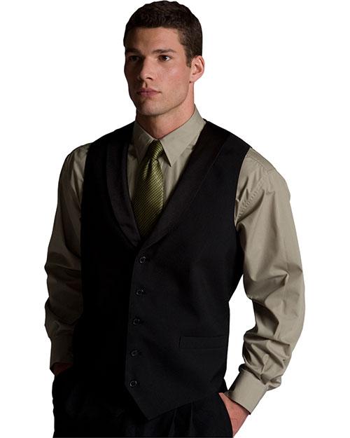 Edwards 4495 Men Black Satin Shawl Vest Black at bigntallapparel
