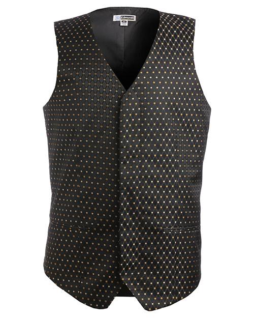 Edwards 4497 Men Diamond And Dots Vest Black at bigntallapparel