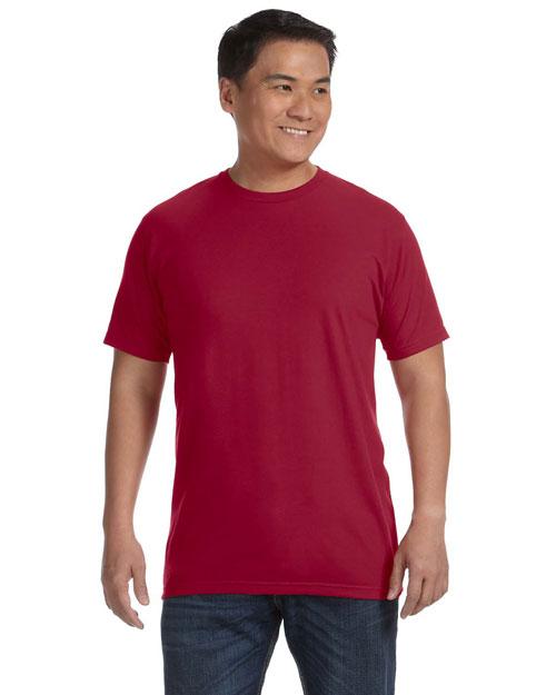 Anvil 450 Men 4.8 Oz., 50/50 Organic Cotton In Conversion Blend Short-Sleeve T-Shirt Independence Red at bigntallapparel