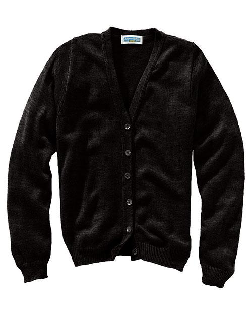 Edwards 451 Women V-Neck Cardigan Sweater Black at bigntallapparel