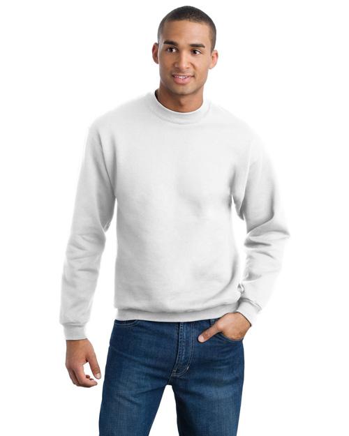 Jerzees 4662M Men Super Sweats Crewneck Sweatshirt White at bigntallapparel