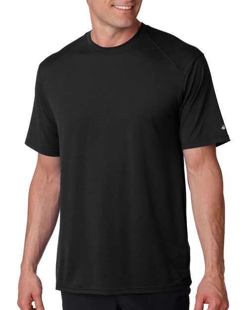 Badger 4820 Men Adult Performance Btech Tee Black at bigntallapparel