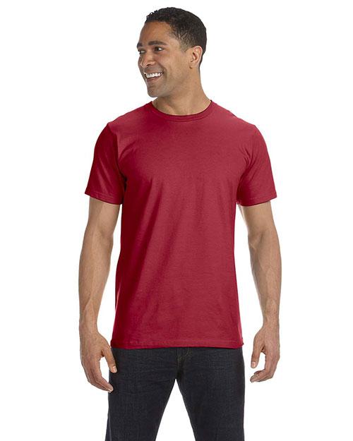 Anvil 490 Men 4.5 Oz., 100% Organic Ringspun Cotton T-Shirt Independence Red at bigntallapparel