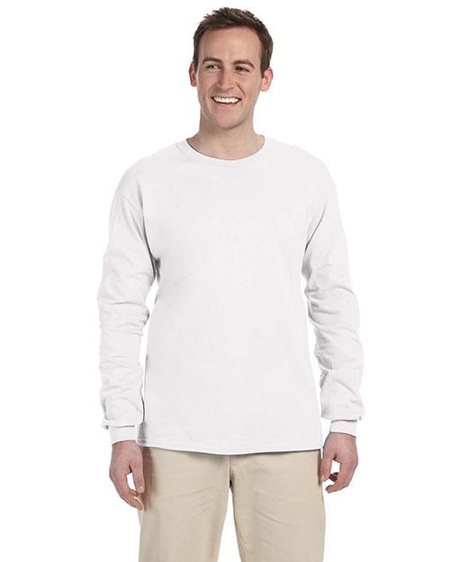 Fruit Of The Loom 4930 Men 3931p  5.4 Oz. Heavy Cotton Pocket T-Shirt White at bigntallapparel