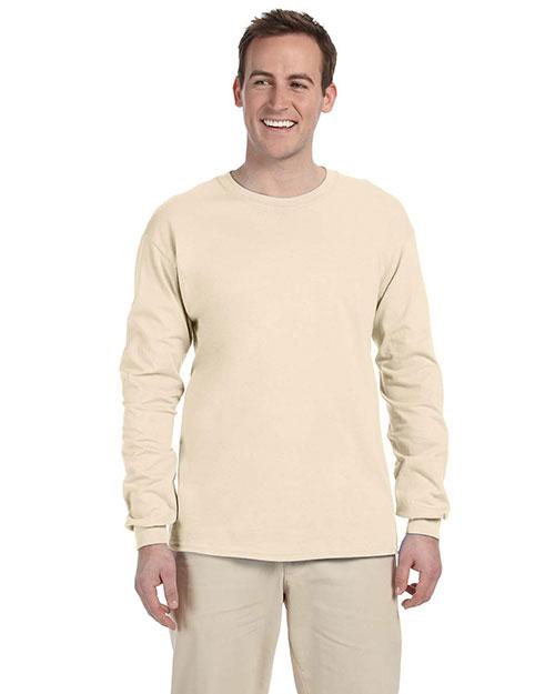 Fruit Of The Loom 4930 Men 3931p  5.4 Oz. Heavy Cotton Pocket T-Shirt Natural at bigntallapparel