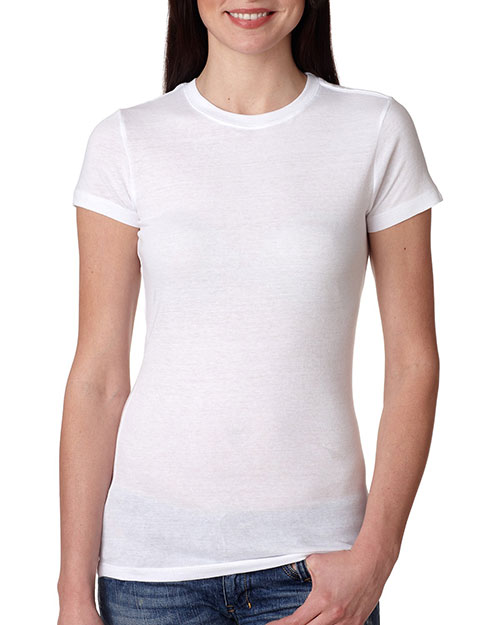 Bayside 4990 Women Fashion Jersey Tee White at bigntallapparel