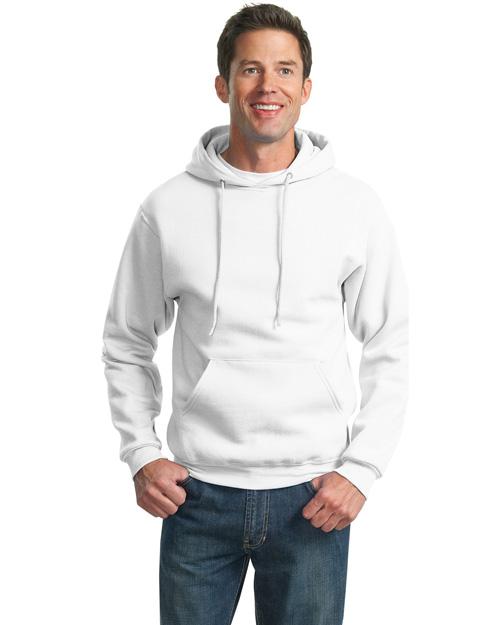 Jerzees 4997M Men Super Sweats Pullover Hoodie Sweatshirt White at bigntallapparel