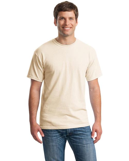 Gildan 5000 Men Heavy 100% Cotton T Shirt Natural at bigntallapparel