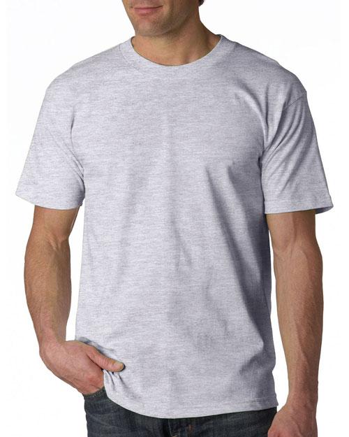 Bayside 5100 Men Adult Shortsleeve Cotton Tee Ash (99/1) at bigntallapparel