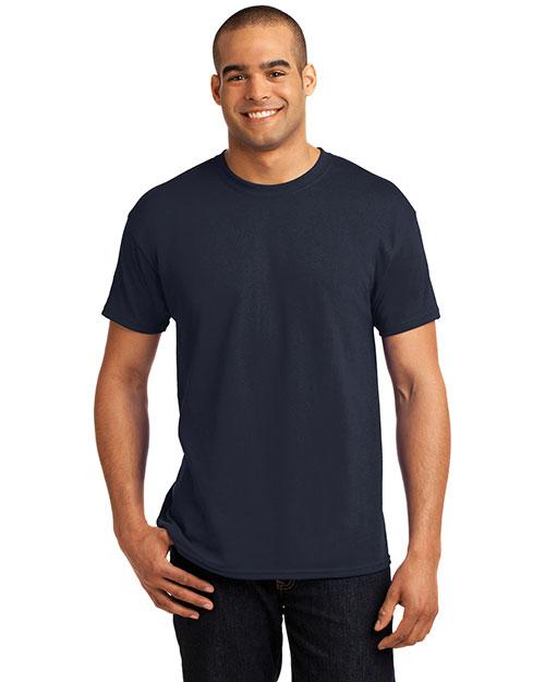 Hanes 5170 Women Heavy Weight 50/50 Cotton/Poly T Shirt Deep Navy at bigntallapparel
