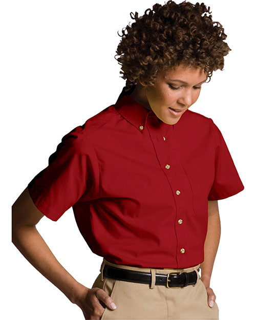 Edwards 5230 Women Easy Care Short Sleeve Poplin Shirt Brick at bigntallapparel