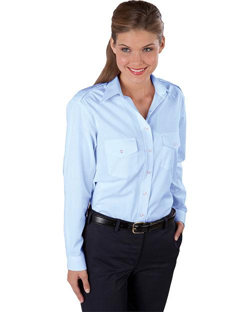 Edwards 5262 Women Long Sleeve Navigator Shirt blue at bigntallapparel