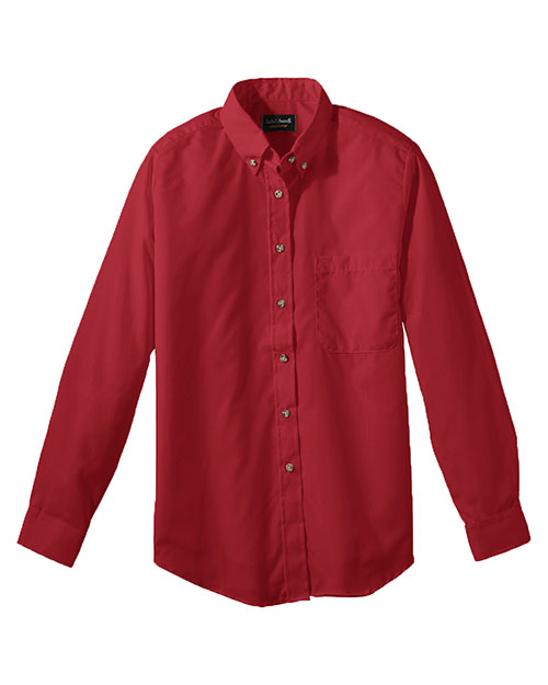 Edwards 5280 Women Easy Care Long Sleeve Poplin Shirt Brick at bigntallapparel