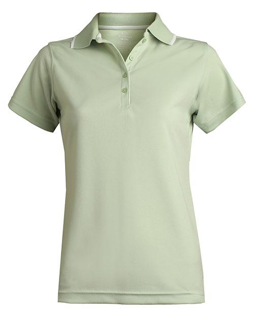 Edwards 5575 Women Tipped Collar Dry-Mesh Hi-Proformance Polo Cucumber at bigntallapparel