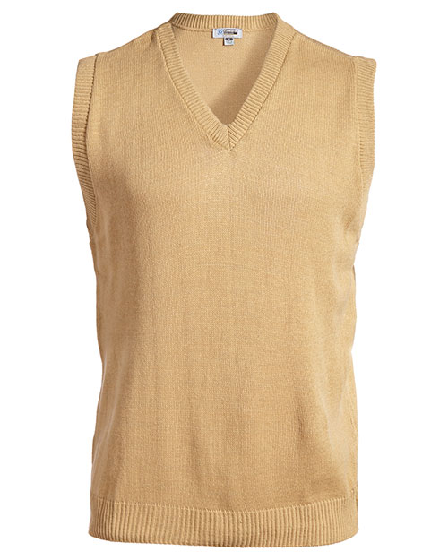 Edwards 561 Women  V-Neck Jersey Vest With Tuff-Pil Plus Khaki at bigntallapparel