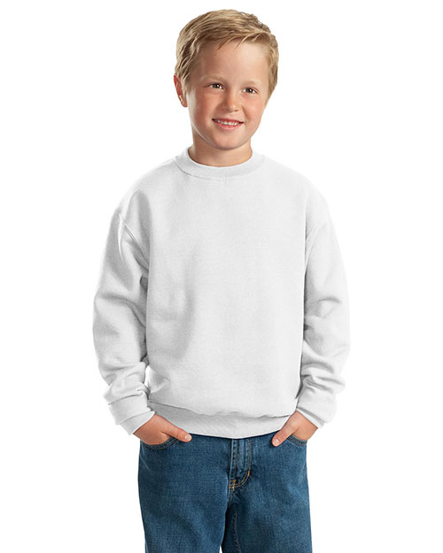 Jerzees 562B Men 8ounce Sweatshirt White at bigntallapparel