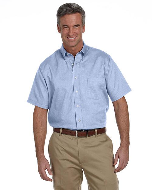 Van Heusen 57850 Men Classic Shortsleeve Oxford blue at bigntallapparel