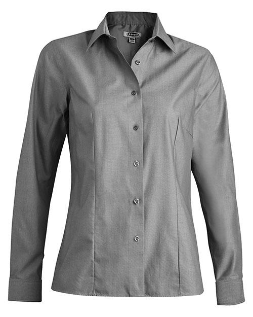Edwards 5978 Women No-Iron Stay Collar Dress Shirt Charcoal at bigntallapparel