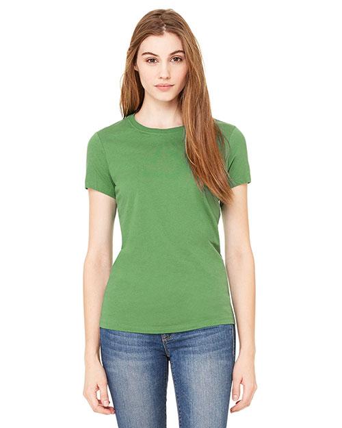 Bella 6000 Women Jersey Short-Sleeve T-Shirt Leaf at bigntallapparel