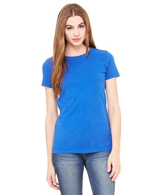 Bella 6004U Women Made In The Usa Favorite T-Shirt True Royal at bigntallapparel