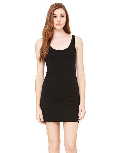 Bella 6012 Women Jersey Tank Dress Black at bigntallapparel