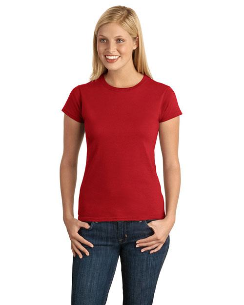 Gildan 64000L Women Softstyle Junior Fit Tshirt Cherry Red at bigntallapparel