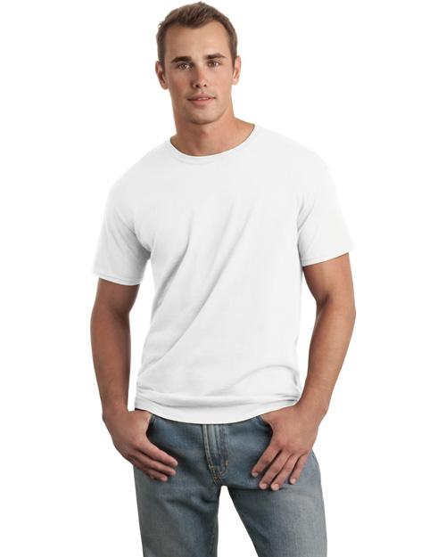 Gildan 64000 Men Soft-Style Ring Spun Cotton T Shirt White at bigntallapparel