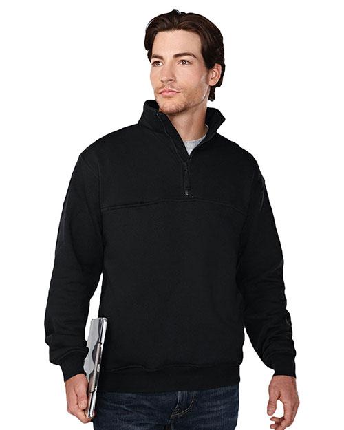 Tri-Mountain 647 Men 80% Cotton 20% Polyester Pullover Sweat Shirt Black at bigntallapparel
