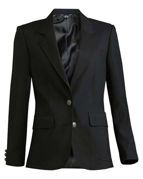 Edwards 6500 Women Polyester Blazer Black at bigntallapparel
