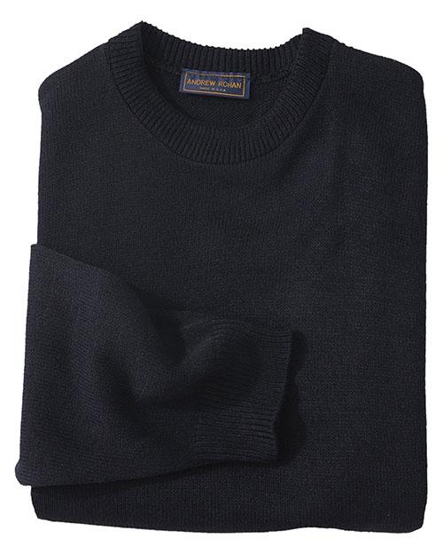 Edwards 665 Unisex Crew Neck Sweater With Tuff-Pil Plus Navy at bigntallapparel