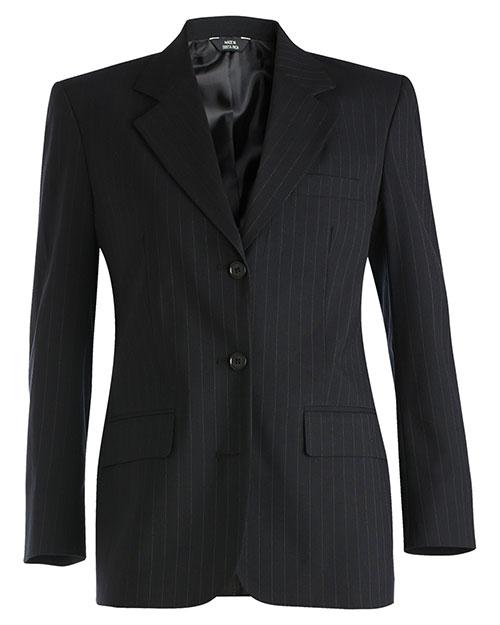 Edwards 6660 Women Pinstripe Wool Blend Suit Coat Navy at bigntallapparel